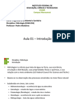 Hidrologia - Aula 01