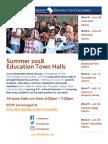 Summer 2018 Town Halls Flyer