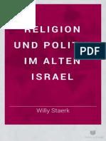 Religion Und Politik Im Alten Israel