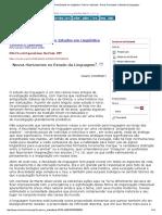 Novos Horizontes No Estudo Da Linguagem (CHOMSKY, 1997)