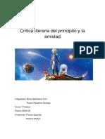Critica Literaria Del Principito y La Amistad