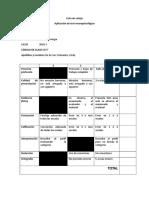Lista de Cotejo Aplicación Test