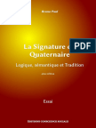 La Signature Du Quaternaire - B. Paul