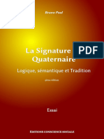 La Signature Du Quaternaire - Logique, sémantique et Tradition (4ème édition)