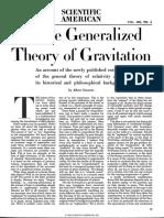 Einstein 1950 Generalized Theory of Relativity Sci Am