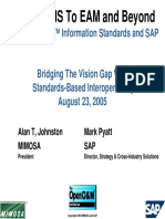 From CMMS to EAM and Beyond With OpenOM Information Standards and SAP