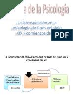 La Introspección de La Psicología de Fines Del Siglo XIX y Comienzos Del XX