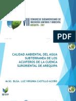Calidad Ambiental Del Agua Subterranea de Los Acuiferos de La Cuenca Suroriental de Arequipa Dra. Luz Castillo 15.11.17