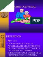 PORCION CONYUGAL