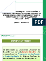 Diplomado de Formación Nacional de Docentes Para Ejercer La Función Directiva - ESTEVES