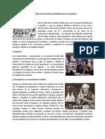Descripción de Las Etapas de Desarrollo de La Quimica