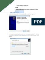 Manual de Instalacion y Uso Exporta Excel 1415