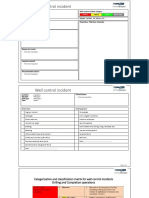Well Control Incident Report Form Template