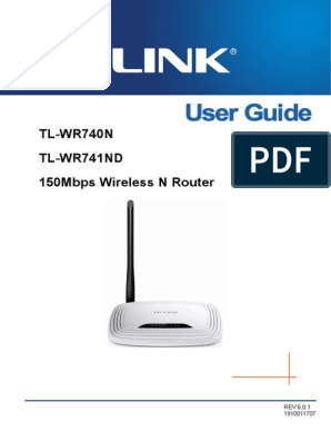 TL-WR740N(UN)_V6_UG pdf | Ip Address | Wi Fi