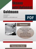 Pemeriksaan Tomometri Aplanasi Goldmann.pptx