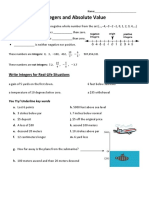 3.1 - Notes and HW - Integers - Absolute Value
