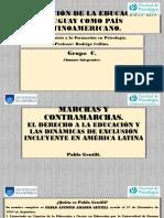 Consolidación de La Educación en Uruguay Como País