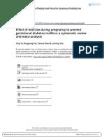 Efecto Del Ejercicio Durante El Embarazo Para Prevenir La Diabetes Mellitus Gestacional- Una Revisión Sistemática y Metaanálisis