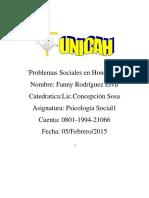 Problemas Sociales en Honduras