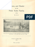 History and Roster of the Peter Kuhn Family in the U.S.A.