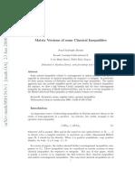 Bourin - Matrix Generalization of Classic Inequalities