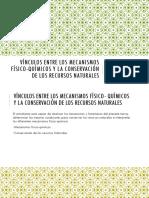 02 Vínculos Entre Los Mecanismos Físico-químicos y La Conservación