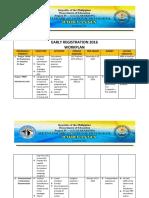 Early Registration Workplan - Final