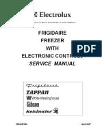 Electrolux Electronic Controled Freezer Service Manual 2007