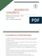 Propriedades Do Concreto - 2015
