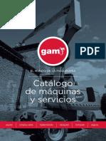 Catálogo GAM - Maquinaria