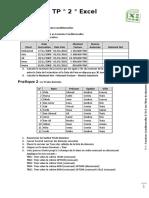 TP 2 Excel