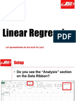 Spreadsheets - Linear Regression
