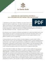 Quirógrafo de San Juan Pablo II