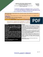 ANÁLISIS DEL COMPORTAMIENTO TÉRMICO EN LA PLANTA TERMOELÉCTRICA VALLE DE MÉXICO MEDIANTE PRUEBAS DE EVALUACIÓN EN TURBINAS DE GAS