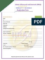 Registration Form Format
