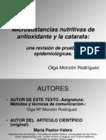Artículo.Antioxidantes.Cataratas.