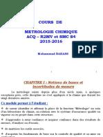 Cours de Métrologie Chap I Microsoft PowerPoint
