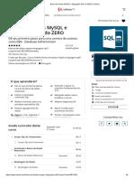 Banco de Dados MySQL e Linguagem SQL