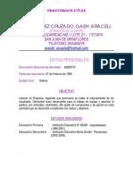 Curriculum Gaby Araceli Rodriguez