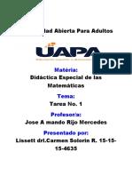 Tarea1 de Didatica Especial de Matematica