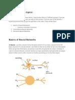 Neural Network Background