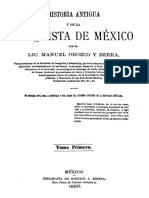Historia Antigua y de La Conquista de Mexico Tomo Primero 846972