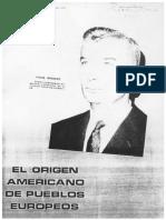 El Origen Americano de Pueblos Europeos