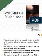 Sesión 12- Volumetría Ácido - Base