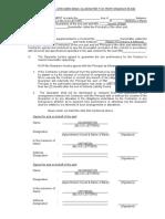 Sch Specimen Bank Guarantee Form for Performance Bond
