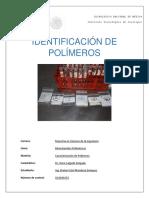 Identificación de Polímeros Practica 1 de Caracterizacion