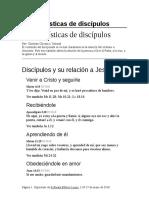 Características de Discípulos