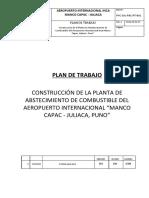 Plan de Trabajo Planta de Abastecimeinto de Combustible