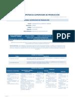 Perfil Competencia Supervisor de Produccion Alimentos