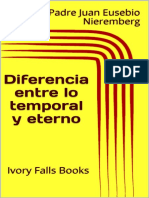Diferencia entre lo temporal y eterno - Padre Juan Eusebio Nieremberg